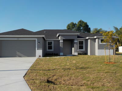 Port Saint Lucie, Saint Lucie West Single Family Home For Sale: 5725 NW Alcazar Terrace