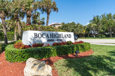 Highland Beach Condo For Sale: 4740 S Ocean Boulevard #902