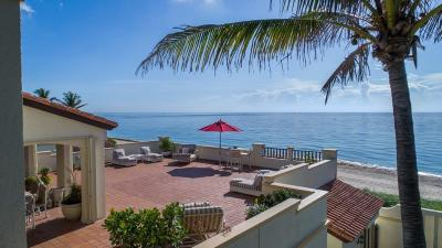 Gulf Stream, Ocean Ridge Townhouse For Sale: 2601 Ocean Boulevard #D