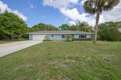 Fort Pierce Single Family Home For Sale: 3204 Memory Lane