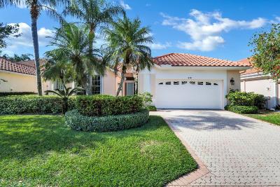 Palm Beach Gardens Single Family Home Contingent: 512 Eagleton Cove Trace