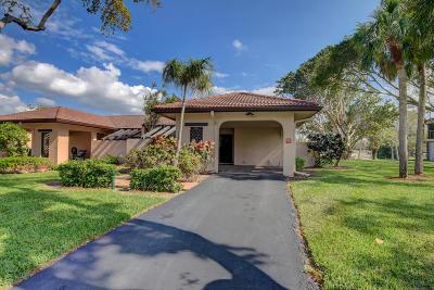 Boca Raton Single Family Home Contingent: 9260 Vista Del Lago #22-B