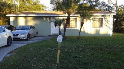 Lake Worth Single Family Home For Sale: 3048 Reo Lane