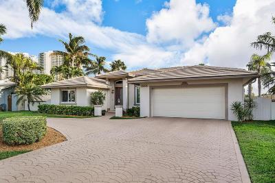 Singer Island Single Family Home For Sale: 1201 N. Harbor