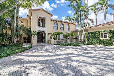 Palm Beach FL Single Family Home For Sale: $10,250,000