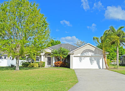 Fort Pierce Single Family Home For Sale: 2906 Serenity Circle S