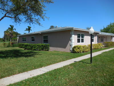 Delray Beach Single Family Home Contingent: 2313 Lowson Boulevard #C