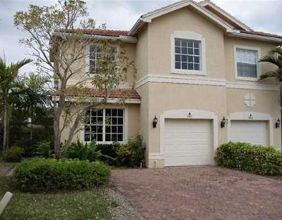 Royal Palm Beach Townhouse For Sale: 560 Silk Carnation Way #A
