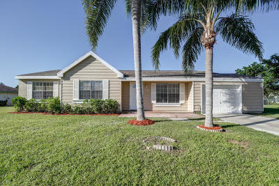 Port Saint Lucie FL Single Family Home Contingent: $169,000