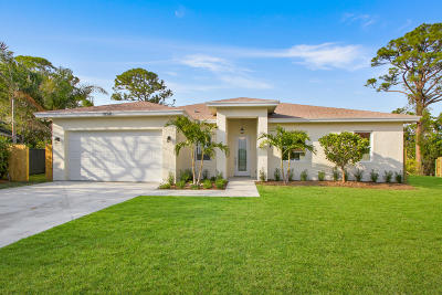 Jupiter Single Family Home For Sale: 1050 Choctaw Street