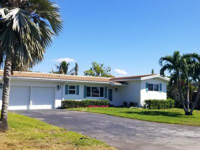 Boynton Beach Single Family Home For Sale: 3206 Canal Drive
