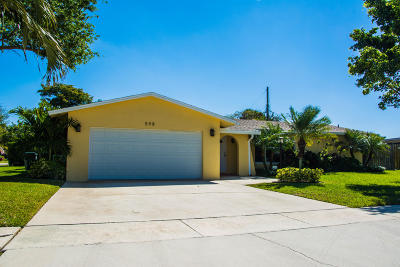 Boca Raton Single Family Home For Sale: 598 NW 13th Drive