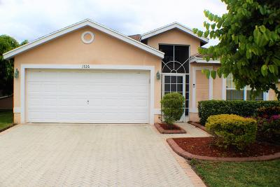 West Palm Beach Single Family Home Contingent: 1726 Sawgrass Circle