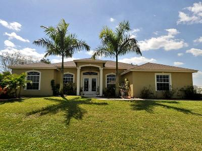 Port Saint Lucie Single Family Home For Sale: 334 SW Aster Road