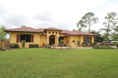 Loxahatchee Single Family Home For Sale: 17281 Orange Grove Boulevard