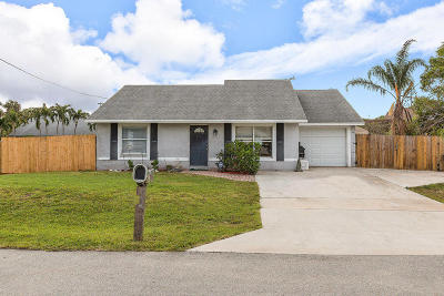 Lake Worth, Lakeworth Single Family Home For Sale: 6653 Riparian Road