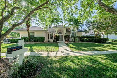 Jupiter Single Family Home For Sale: 18646 Still Lake Drive