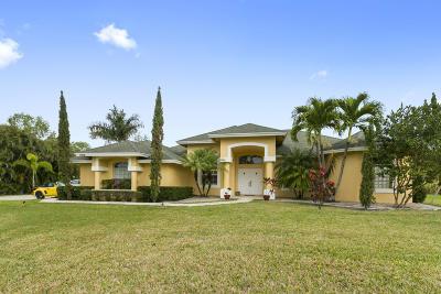 West Palm Beach Single Family Home For Sale: 12441 Citrus Grove Boulevard