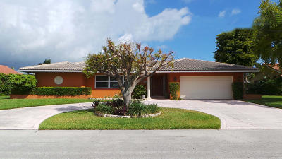 Singer Island Single Family Home For Sale: 1200 Fairview Lane