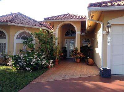 Lake Worth, Lakeworth Single Family Home For Sale: 1721 Pierce Drive
