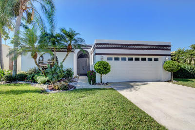 Lake Worth, Lakeworth Single Family Home For Sale: 6696 Palermo Way #6696