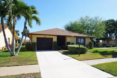 Greenacres FL Single Family Home For Sale: $184,900