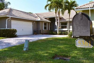 Delray Beach Single Family Home For Sale: 5361 Grande Palm Circle