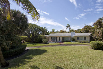 West Palm Beach Single Family Home For Sale: 3601 Flagler Drive
