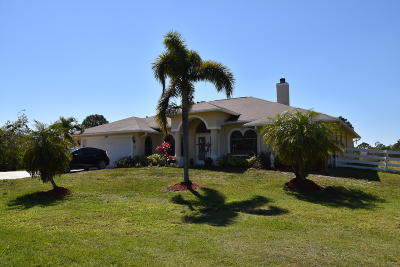 Port Saint Lucie Single Family Home For Sale: 7315 Gullotti Place