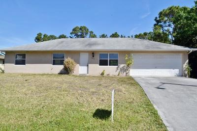 Port Saint Lucie Single Family Home For Sale: 1211 SW Goodman Avenue