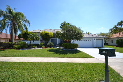 Boca Raton Single Family Home For Sale: 11151 Boca Woods Lane