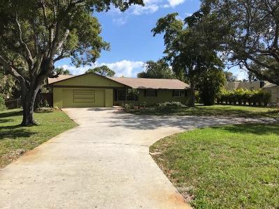 Lake Worth, Lakeworth Single Family Home For Sale: 6080 Pine Drive