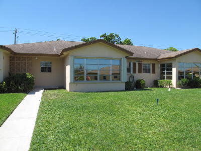 Delray Beach Single Family Home Contingent: 14539 Canalview Drive #B