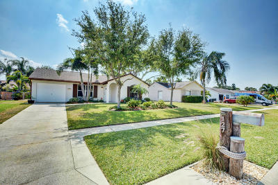 Jupiter Single Family Home For Sale: 127 Lakeside Circle