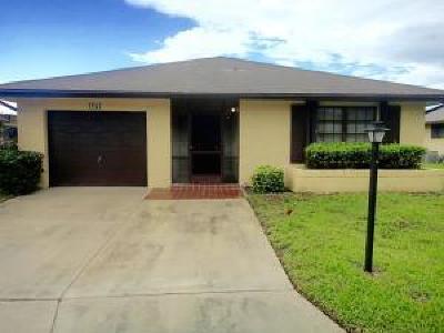 Greenacres FL Single Family Home For Sale: $170,000