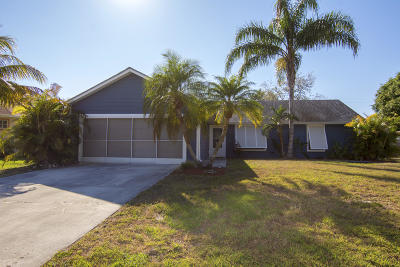 Port Saint Lucie Single Family Home For Sale: 2450 SW Lafayette Street
