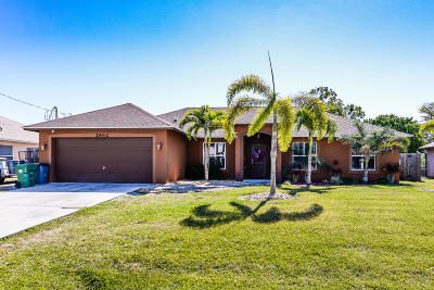 Port Saint Lucie Single Family Home For Sale: 2662 SW Acco Road