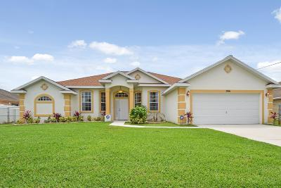Port Saint Lucie Single Family Home For Sale: 3816 SW Kolsted Street