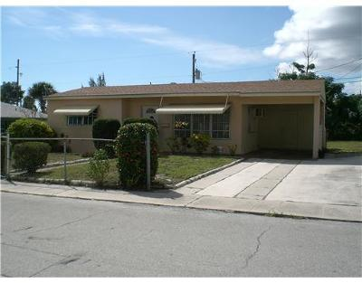 West Palm Beach Single Family Home For Sale: 1117 W 26th Court
