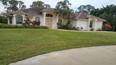 West Palm Beach Single Family Home For Sale: 11224 Orange Boulevard