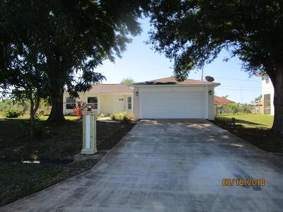 Port Saint Lucie Single Family Home For Sale: 818 SW Koler