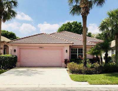 West Palm Beach Single Family Home For Sale: 2805 Waters Edge Circle