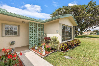 Delray Beach Single Family Home For Sale: 14329 Canalview Drive #D
