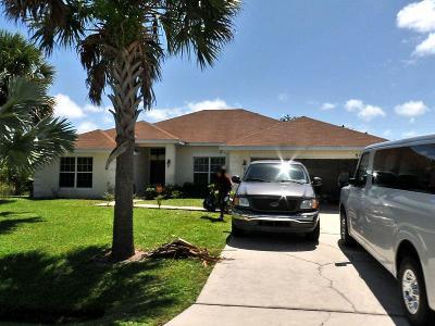 Port Saint Lucie Single Family Home Contingent: 966 SW Fisherman Avenue