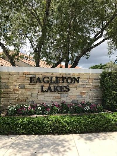 Palm Beach Gardens Single Family Home Contingent: 343 Eagleton Golf Drive