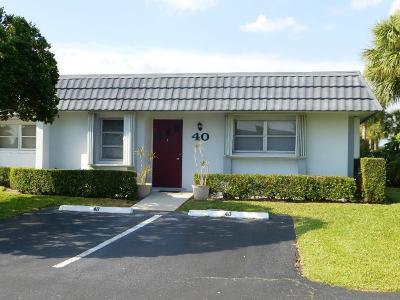 West Palm Beach Single Family Home For Sale: 2886 Fernley Drive E #40