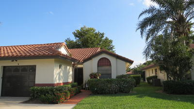 Boynton Beach Single Family Home For Sale: 5912 Autumn Lake Lane #B