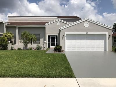 Royal Palm Beach Single Family Home For Sale: 117 Elysium Drive