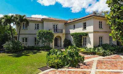 Palm Beach Single Family Home For Sale: 180 Canterbury Lane