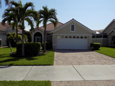 Port Saint Lucie Single Family Home For Sale: 842 Lake Charles Cir SW